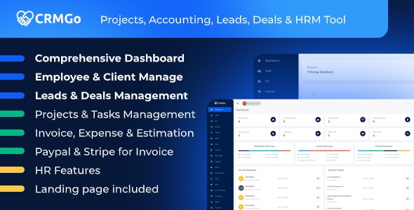 CRMGo - Projects, Accounting, Leads, Deals & HRM Tool - CodeCanyon Item for Sale
