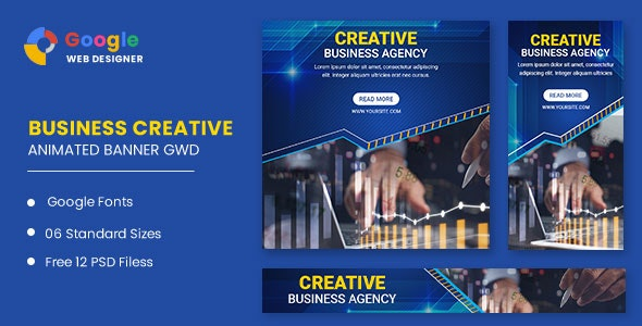 Business Agency Animated Banner Google Web Designer - CodeCanyon Item for Sale