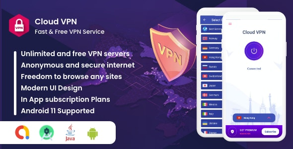 Cloud VPN : Best, Fast And Secure VPN - CodeCanyon Item for Sale