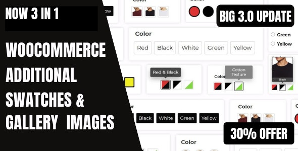 WooCommerce Variation Swatches And Additional Gallery - CodeCanyon Item for Sale