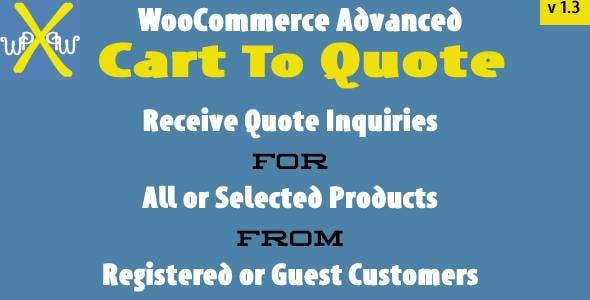 WooCommerce Advanced Cart To Quote
