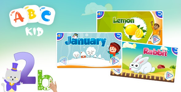 Child Learning ABC App - Android App - CodeCanyon Item for Sale