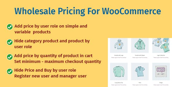 Wholesale Pricing For WooCommerce