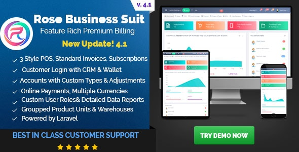 Rose Business Suite - Accounting, CRM and POS Software - CodeCanyon Item for Sale