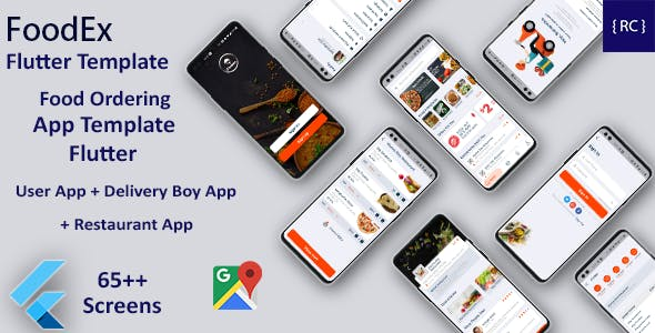 Food Ordering App | Food Delivery App | 3 Apps | Android + iOS App Template | FLUTTER | FoodEx
