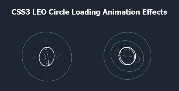 CSS3 LEO Circle Loading Animation Effects