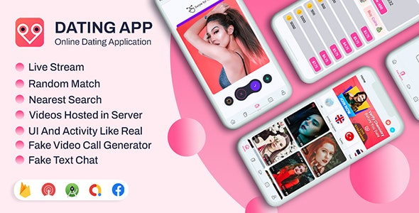 DateMe- Dating App Pro  (Live Stream, Random Video Call, Match, Videos From Server, In-app Buy) - CodeCanyon Item for Sale