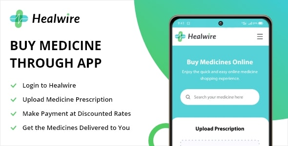 Healwire Android - Online Medical Store - CodeCanyon Item for Sale
