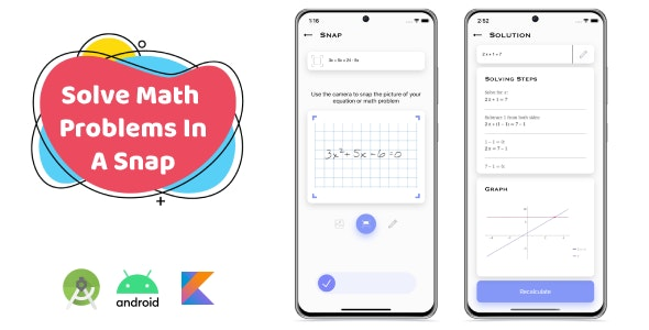 SnapMath - Android Photo Math Solving App | Multilingual