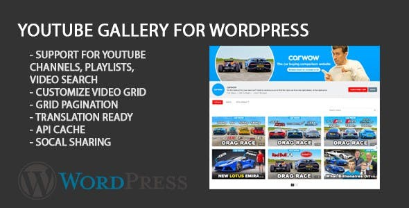 Youtube Gallery Portfolio WordPress Plugin