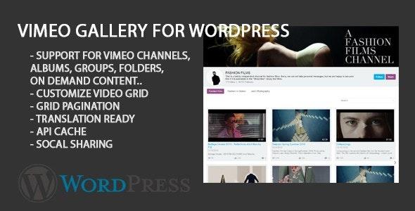 Vimeo Gallery Portfolio - CodeCanyon Item for Sale