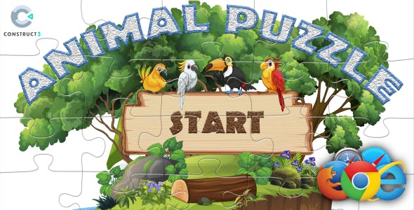 Animal Puzzle HTML5 Game