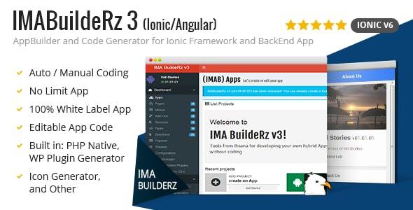 IMABuildeRz 3 - Ionic Mobile App Builder + Code Generator