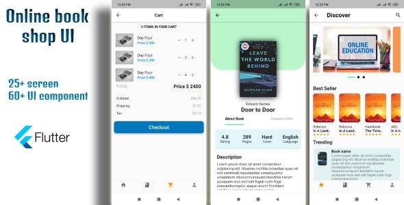 Online book shop flutter UI - CodeCanyon Item for Sale