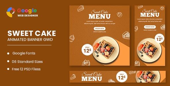 Sweet Cake Animated Banner Google Web Designer - CodeCanyon Item for Sale