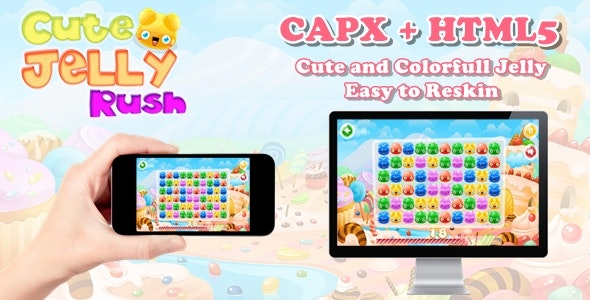 Cute Jelly Rush - Construct 2 Html5 Game - CodeCanyon Item for Sale