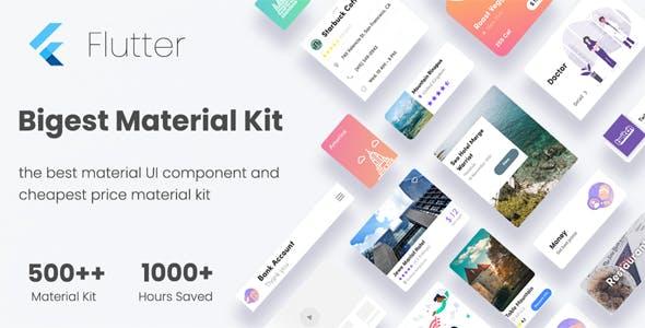 Flutter Bigkit - Flutter Material Widget Component in UI kit flutter