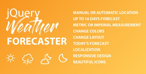 jQuery Weather Forecaster - CodeCanyon Item for Sale