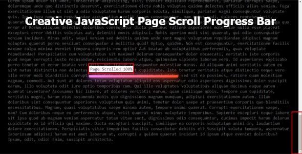 Creative JavaScript Page Scroll Progress Bar