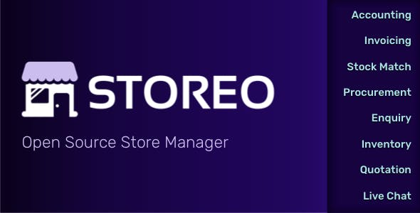 Storeo - Open Source Store Manager for Accounting, Billing & Inventory Management