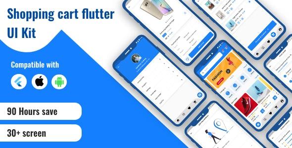 Flutter Shopping Cart UI KIT - CodeCanyon Item for Sale