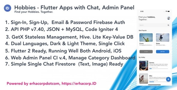 Hobbies - Social Flutter Apps With Chat - Web Admin Panel - CodeCanyon Item for Sale