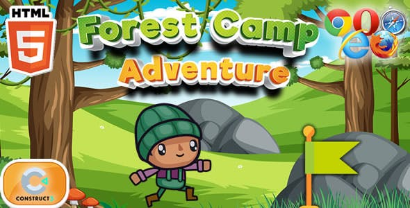 Forest Camp Adventure - HTML5 Game (Construct 3)