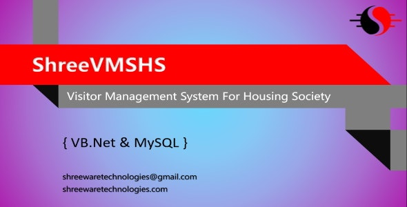 ShreeVMSHS - Visitor Management System for Housing Society in VB.Net and MySQL - CodeCanyon Item for Sale