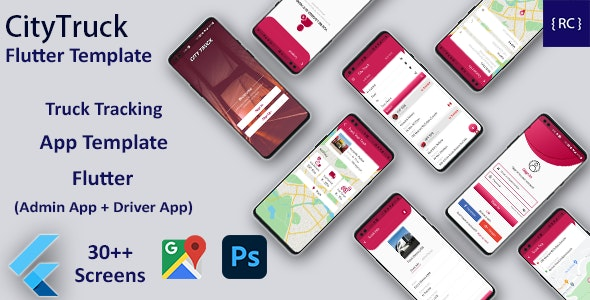 Truck Tracking Android + iOS App Template | 2 Apps | Truck App | Flutter | CityTruck - CodeCanyon Item for Sale