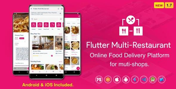 Flutter Multi-Restaurant (FoodPanda, GrabFood - Mobile Food Delivery Platform For iOS & Android) 1.7