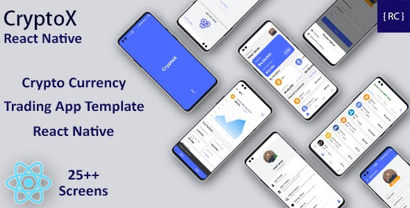 Crypto Currency Trading Android App Template + iOS App Template | React Native | CryptoX