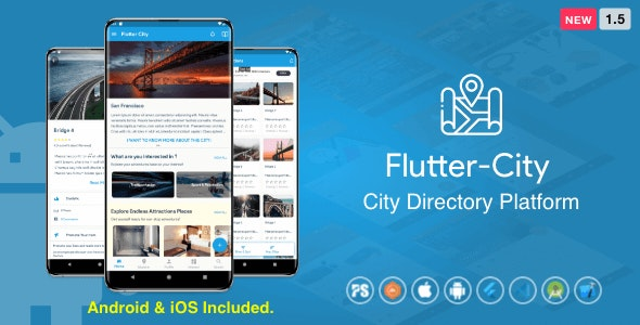 Flutter City ( Directory, City Tour Guide, Business Directory, Travel Guide ) 1.5 - CodeCanyon Item for Sale