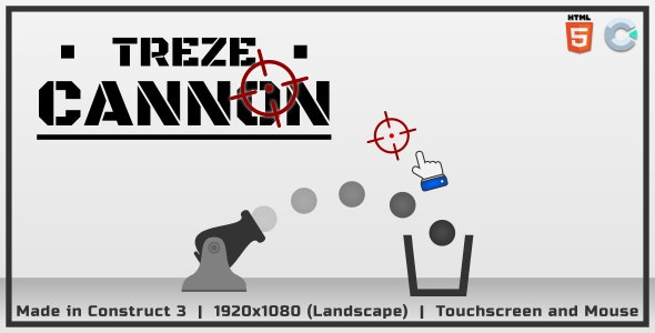 TRZ Cannon - HTML5 Casual game - CodeCanyon Item for Sale