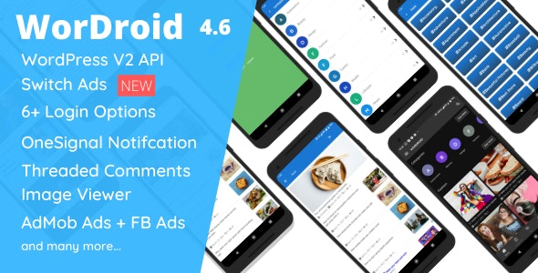 WorDroid - Full Native WordPress Blog App For Android - CodeCanyon Item for Sale