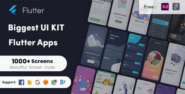 Flutter Biggest UI Kit - Flutter UI KIT in Flutter 2.0 UI kit