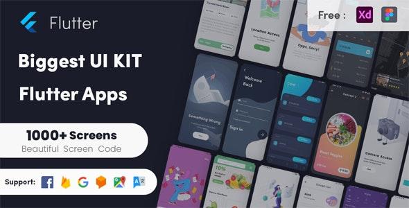 Flutter Biggest UI Kit - Flutter UI KIT in Flutter 2.0 UI kit - CodeCanyon Item for Sale