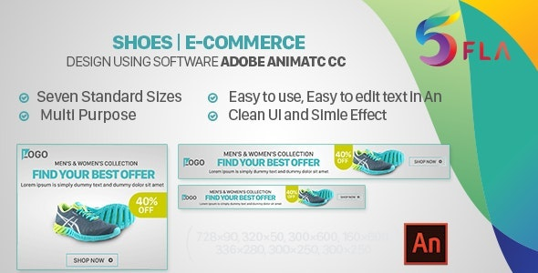 Shoes | E-Commerce HTML5 Banners - Animate CC - CodeCanyon Item for Sale