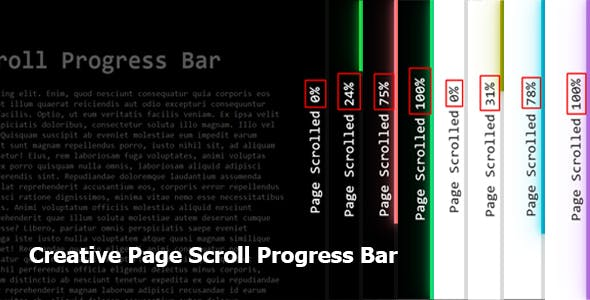 Creative Page Scroll Progress Bar