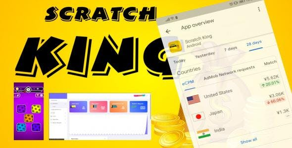 Scratch King - Complete Unity Game (Android, iOS) with Admin Panel