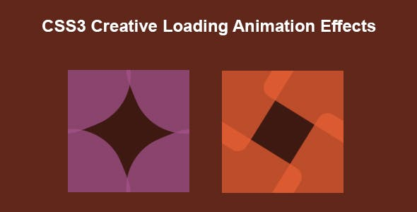 CSS3 Creative Loading Animation Effects