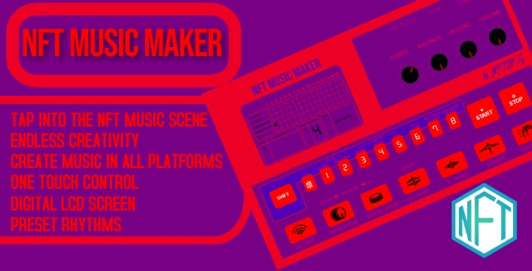NFT Music Maker - CodeCanyon Item for Sale