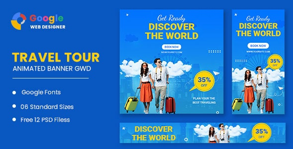 Travel Animated Banner Google Web Designer - CodeCanyon Item for Sale