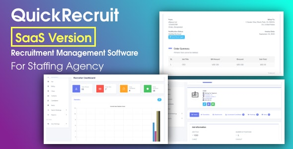 QuickRecruit SaaS - Recruitment CRM and Talent Acquisition System in Laravel - CodeCanyon Item for Sale