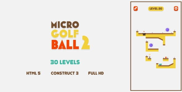 Micro Golf Ball 2 - HTML5 Game (Construct3) - CodeCanyon Item for Sale