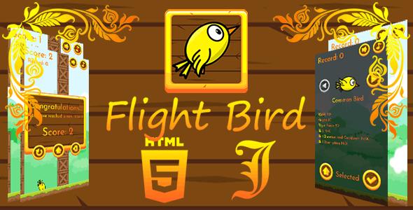 FlightBird - HTML5 Game