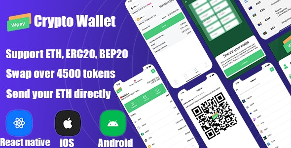 React Native - Definance Crypto Wallet Ethereum, ERC20 - CodeCanyon Item for Sale