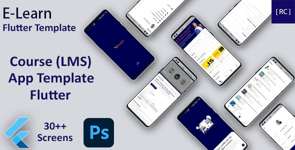 Online Learning App Template | LMS App | Online Course App Android + iOS Template | FLUTTER | ELearn - CodeCanyon Item for Sale