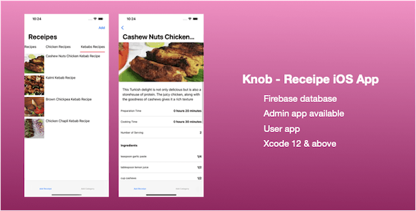 Knob - Receipe iOS App (SwiftUI)