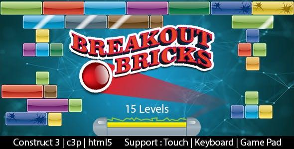Breakout Bricks (Construct 3 | C3P | HTML5)  Bricks Breaking Game