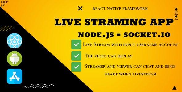 Live streaming App Backend Node.js - socket.io